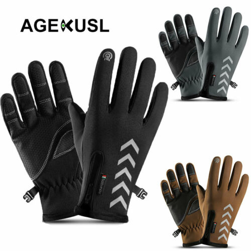 Cycling Gloves Winter Warm MTB Road Bike Full Finger Riding Gloves Reflective