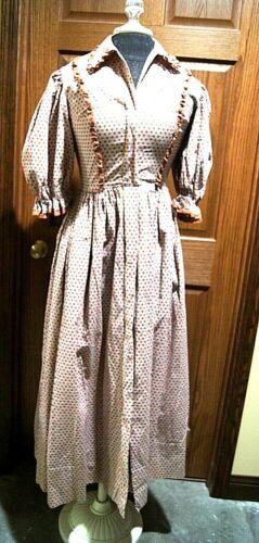 Vintage ladies' cotton prairie maxi dress