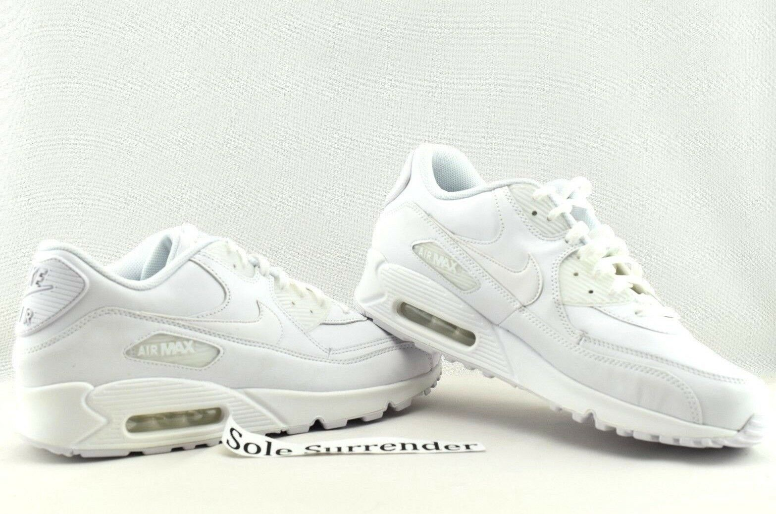 Nike Air Max 90 Leather - CHOOSE SIZE - 302519-113 Triple Whiteout Retro OG
