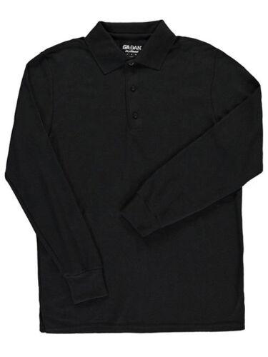 Gildan Men/'s L//S Cotton Pique Polo Adult Sizes S - 3XL