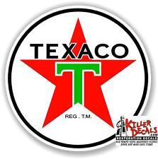 "12"" TEXACO POST WAR GASOLINE DECAL GAS AND OIL PUMP, SIGN WALL ART STICKER"