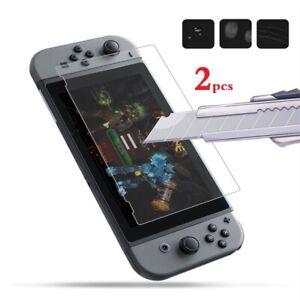 Lot-de-2-Films-de-Protection-Vitre-en-Verre-Trempe-pour-Ecran-Nintendo-Switch