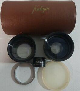 Vintage-Kaligar-Camera-Auxiliary-Lens-Set-Series-VI-Telephoto-Wide-Angle-Japan