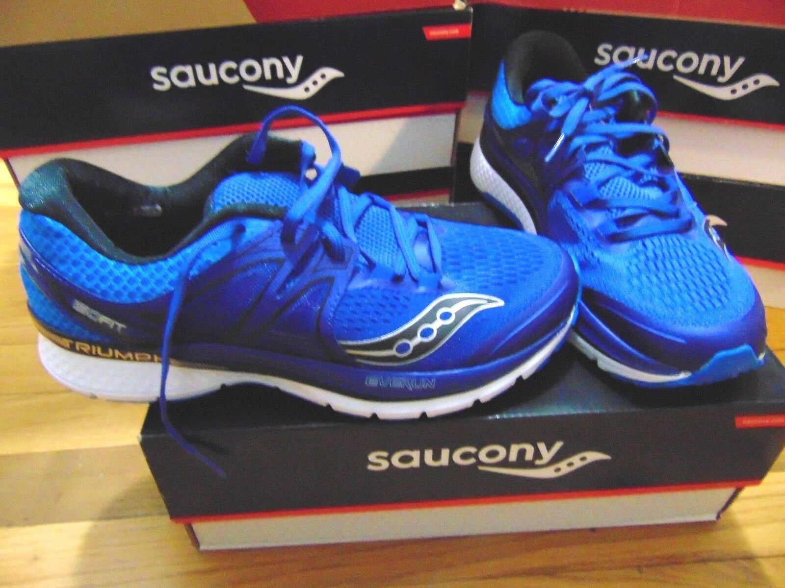 NEW SAUCONY TRIUMPH ISO 3 BLU/SIL RUNNING SIZE SHOES SIZE RUNNING 9 991935