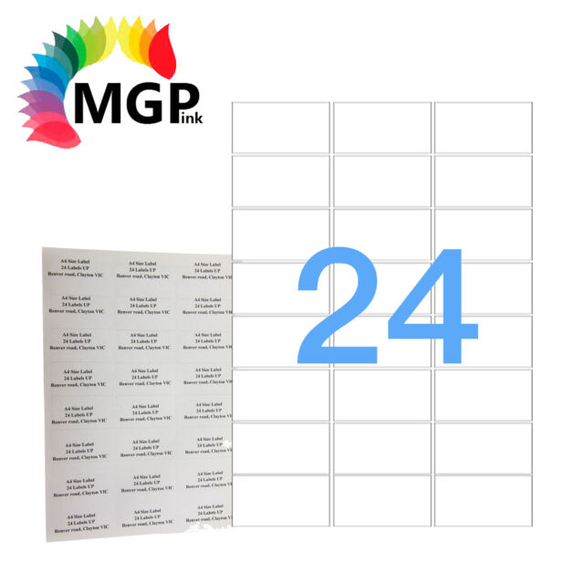 100x A4 Self Adhesive Paper Labels 24 up Office Mailing Sticker Inkjet Laser