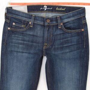 W29 Tous 7 L30 Ladies Extensible Hommes Bnwt Seven Jeans Bleu Les Nouveau Pour Bootcut IFPTwUq