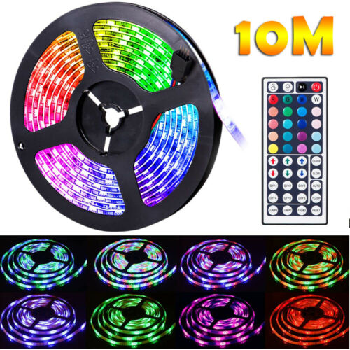 Flexible Strip Light RGB LED SMD Remote Fairy Lights Room TV Home Party