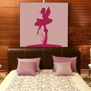 Fairy-amp-Toadstool-Wall-Stickers-Removable-Vinyl-Tinkerbell-Wall-Transfer-FA6