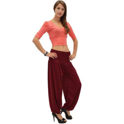 Pumphose Haremshose Aladinhose Yogahose Damen Aladin Pump Harem Yoga Hose S01