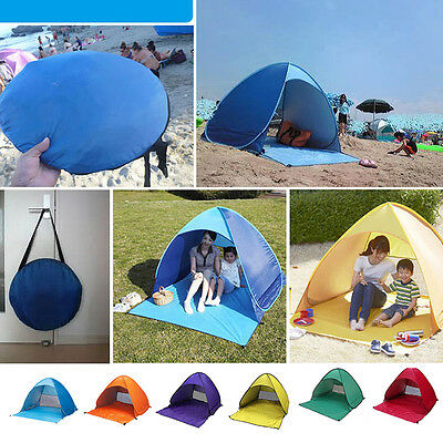 2 Person Portable Beach Tent Anti-UV Sun Shade Cabin Outdoor Hiking Camping