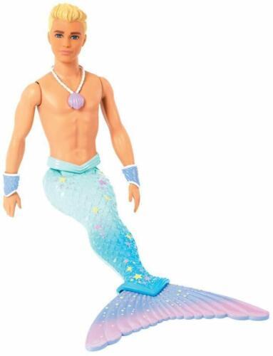 Barbie Dreamtopia Ken Merman Doll Wrist Cuffs Necklace Tail Blue Purple Stars