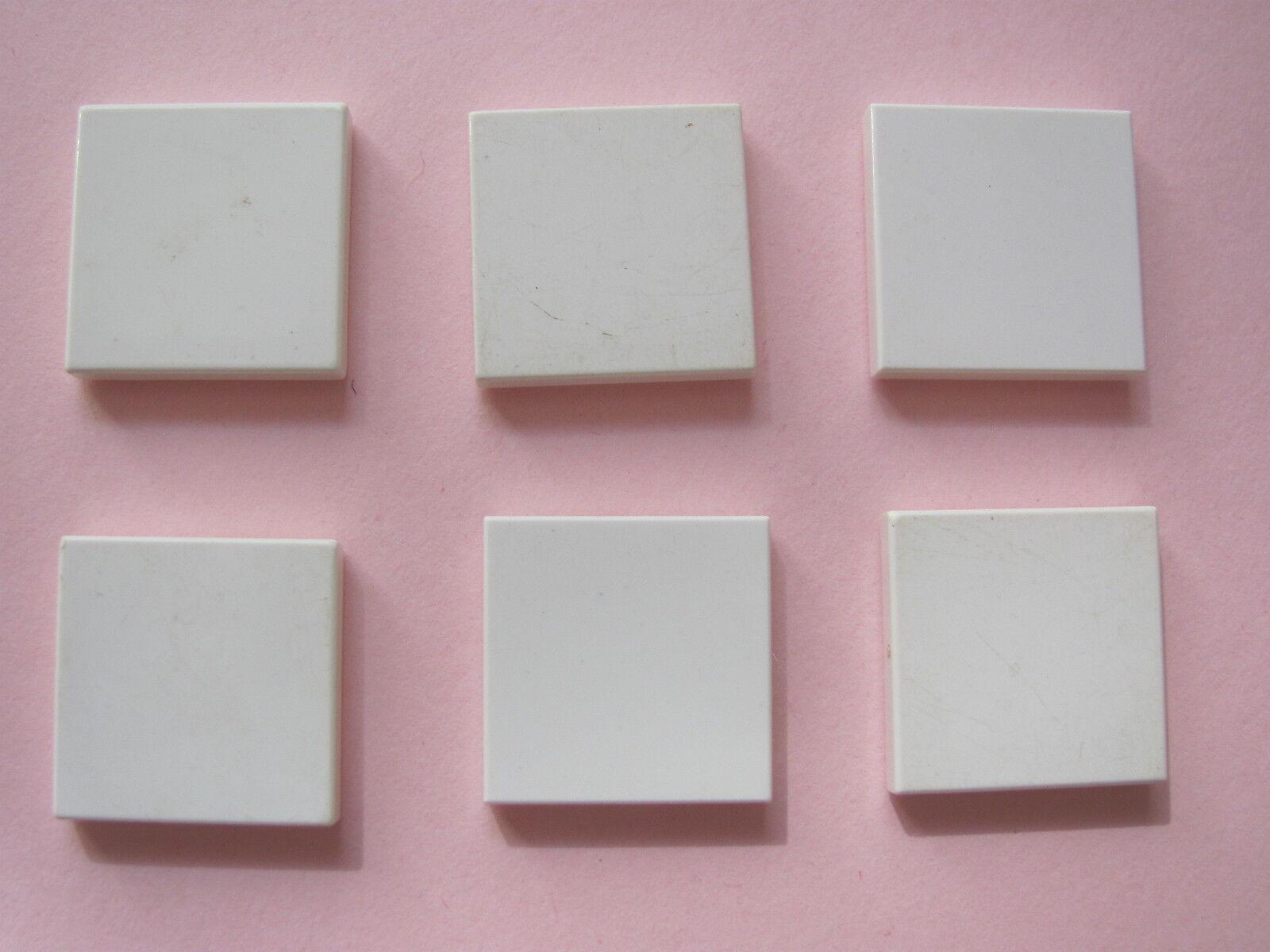 Lego 10x Tile plaque lisse 2x2 with Groove beige foncé//dark tan 3068b NEUF