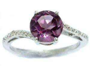 1-5-Ct-Alexandrite-amp-Diamond-Round-Ring-925-Sterling-Silver