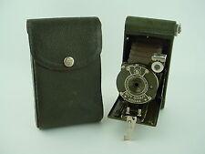 Eastman Kodak Boy Scout Folding Camera 1930s Olive Green w/case - Rare