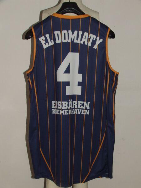 Maglia Shirt Maillot Canotta Basket Eisbaren Bremerhaven Eldomiaty 4 Tg. L Grandi Varietà