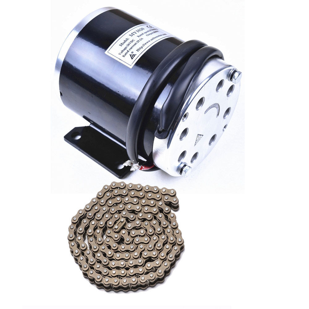 36V 800W Brushed Motor +25H Chain For Electric Bicycle Go Kart ATV Scooter