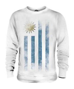 Blica Rep Orientale Del Maglione Sbiadito Bandiera Uruguay Uruguaiano Unisex XS1Pq