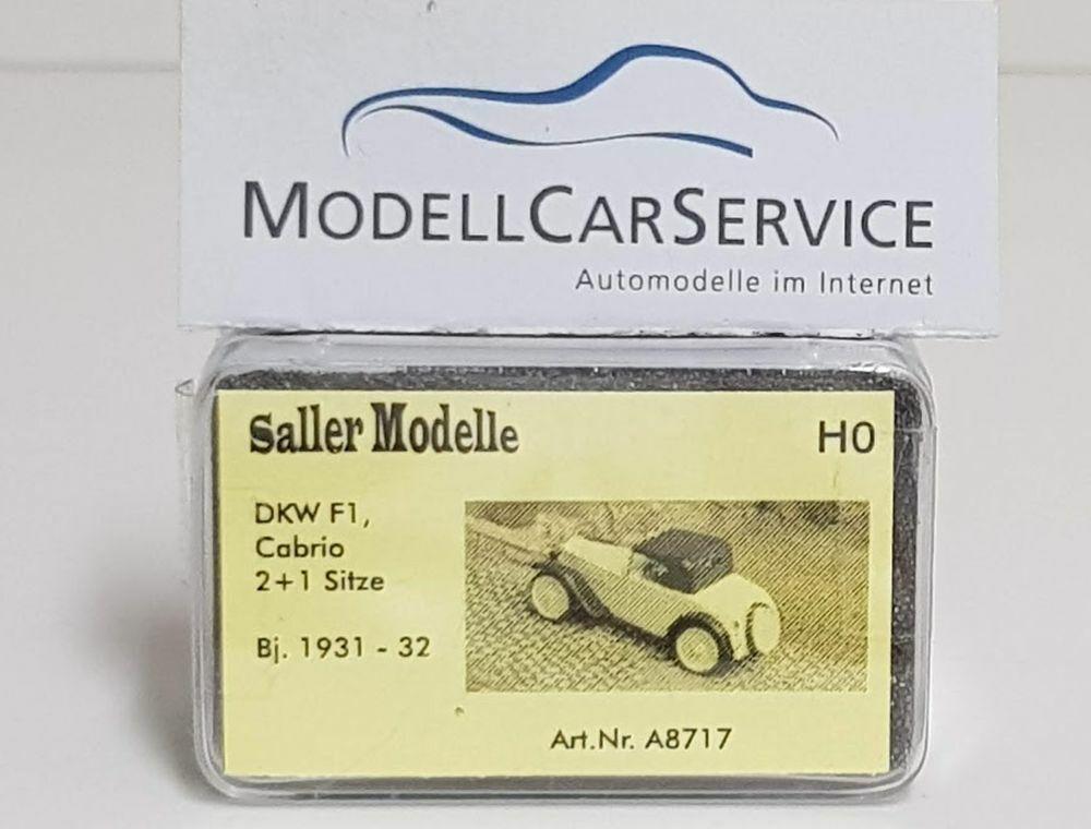 Saller-modèles 1 87  a8717 DKW f1 cabriolet (1931-32), ivoire noir