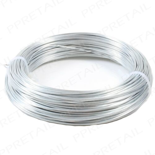 HEAVY DUTY 60m Long Metal Garden Wire EXTRA THICK 1.6mm Fence//Plant Tie Galv