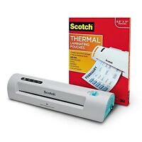 Scotch Thermal Laminator With 100-pack Laminating Pouches (tl901c-t)