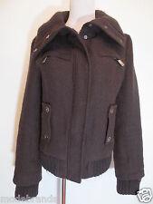 Trend Winter Jacke Ann CHRISTINE S 36 braun Strickkragen  /U4