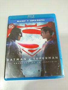 Batman vs Superman el Amanecer de la Justicia Blu-Ray + Extras Español Ingles