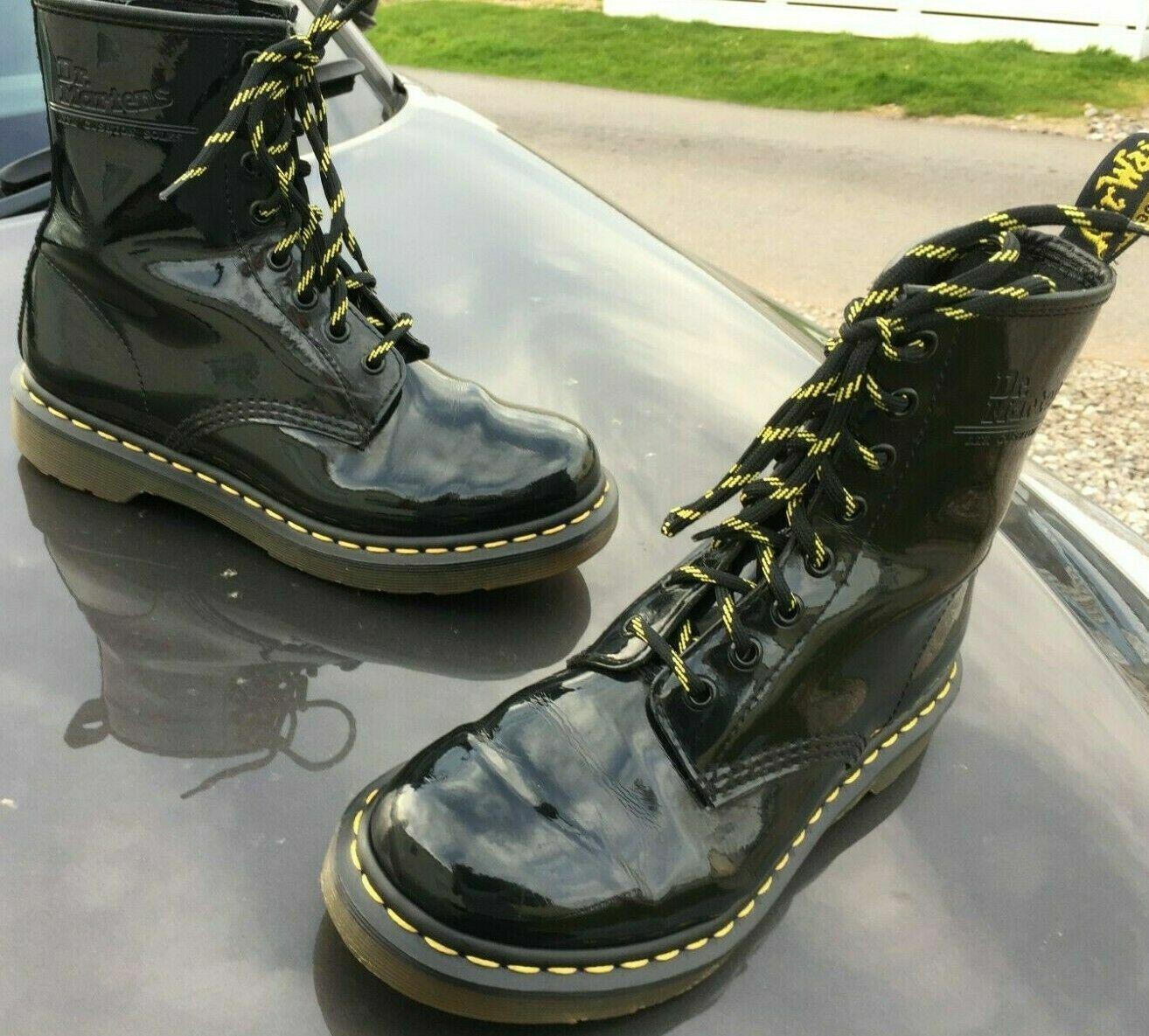 Dr Martens 1460 black patent leather boots UK 5 EU 38