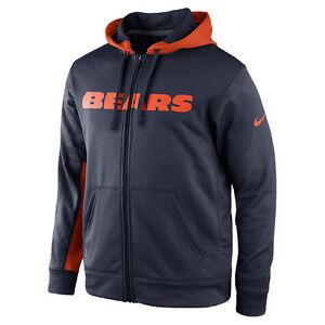 8c4072b0b Men s Nike Chicago Bears NFL KO Full-Zip Hoodie NEW WITH TAGS 538431 ...