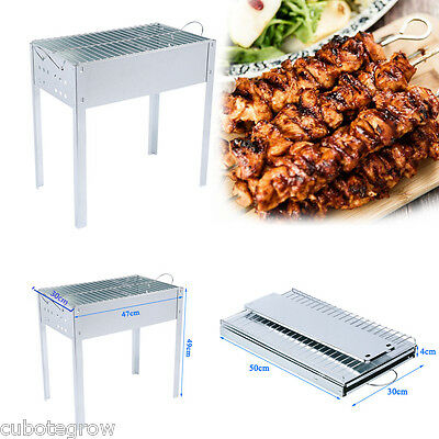 OUTU BBQ Barbecue Portable Steel Grill Foldable Table Charcoal Coal Garden
