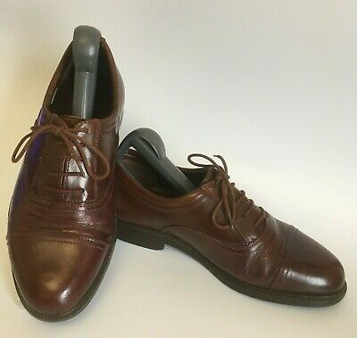 CLARKS Brown Leather Oxford Shoes Mens
