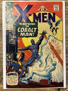 The X-Men #31:Silver Age Marvel Comic Book/1st Cobalt Man/FN-