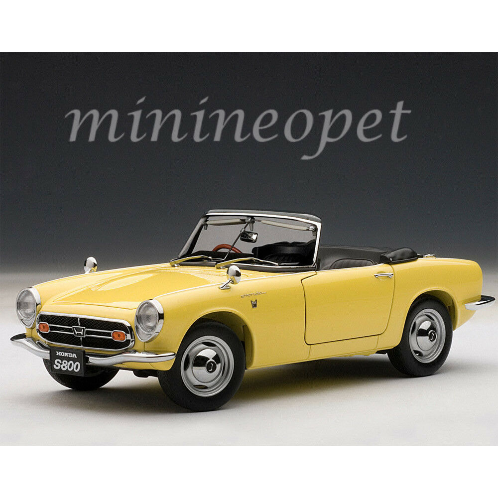 Autoart 73277 1966 honda s800 roadster 1   18 - modell auto gelb