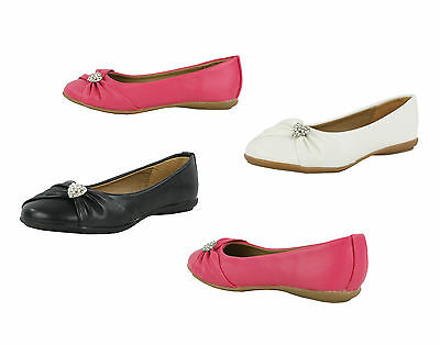 S454-las Chicas Diamante Plana Bailarinas Bombas Zapatos De Ballet-Reino Unido 10 - 2