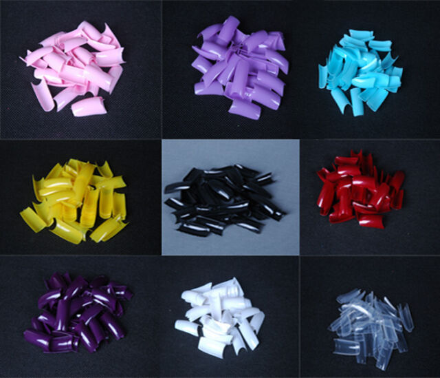 500PCS Acrylic Nail Tips French False Tips for Art Designs UV Gel