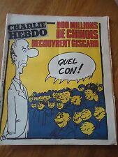 CHARLIE HEBDO N°518 CHINOIS GISCARD CON PRESIDENT CABU WOLINSKI 15 oct 1980