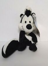 Vintage Pepe Le Pew Skunk Stuffed Animal Toy Looney Tunes  Black White 1997 NEW