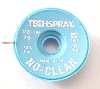 Made in USA NO-CLEAN Entlötlitze 1,4mm breit 7,6m auf ESD-Rolle Hochwertig