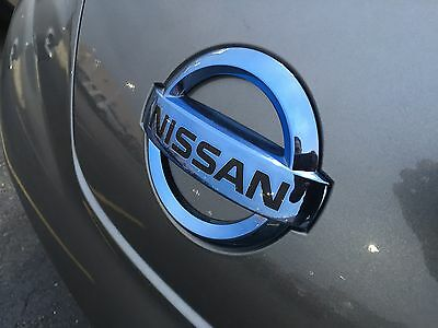 Genuine Nissan 2011-2015 Leaf Blue Engine Motor  Cover Emblem 291C8-3NA0A