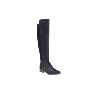 NEW Clarks  Caddy Belle  Ladies Navy Suede Long Over Knee Boots D