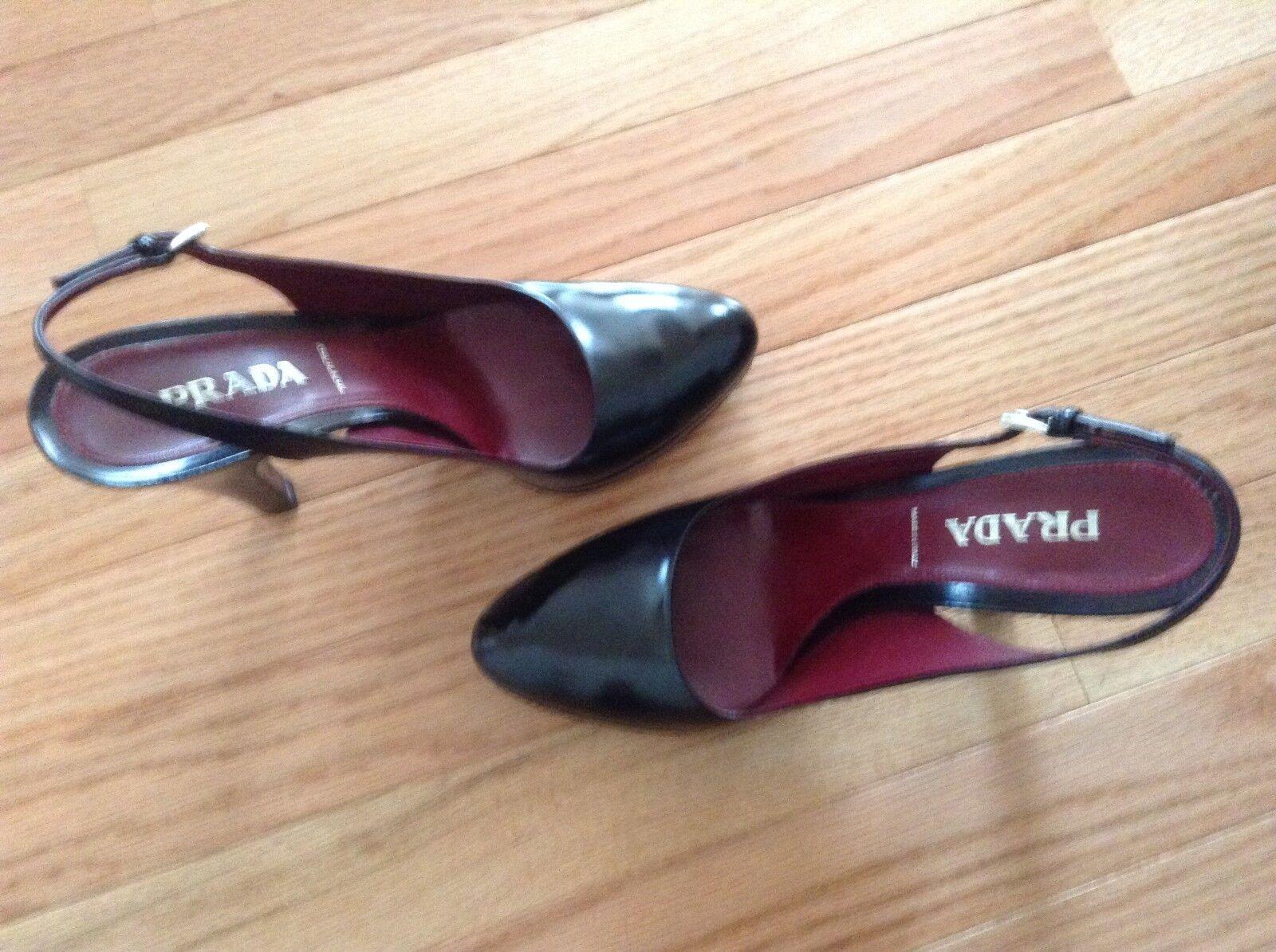 Authentic Prada shoes Heels shoes Sz 38 1 2