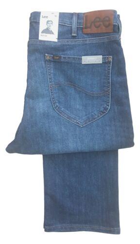 ca. 91.44 cm Da Uomo Lee Morton 36 in gamba alto Regular Fit Tapered Jeans-Blu Sbiadito Denim