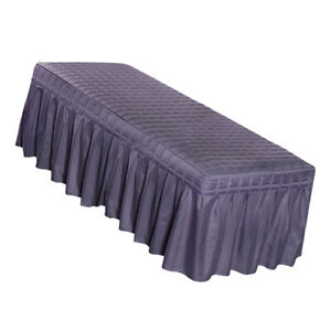 Purple-Massage Table Skirts Facial Salon Spa Tattoo Bed Valance Sheets Cover