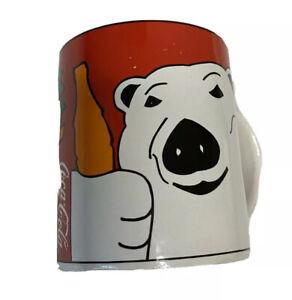 Vintage 1997 Dinnerware And Mugs Coca Cola Polar Bear Xmas Coffee Mug