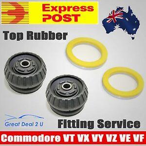 2-Front-Rubber-Top-Strut-Mount-Bearing-Kit-to-Holden-Commodore-VT-VX-VY-VZ-VE-VF