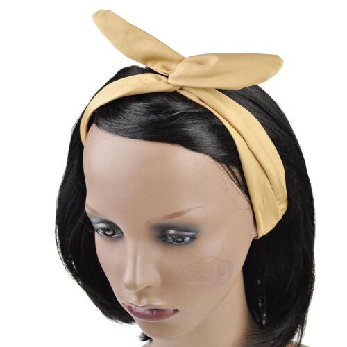 Easy to Wear Plain Wire Headband Retro 50s Hair Scarf Bandy Head Wrap