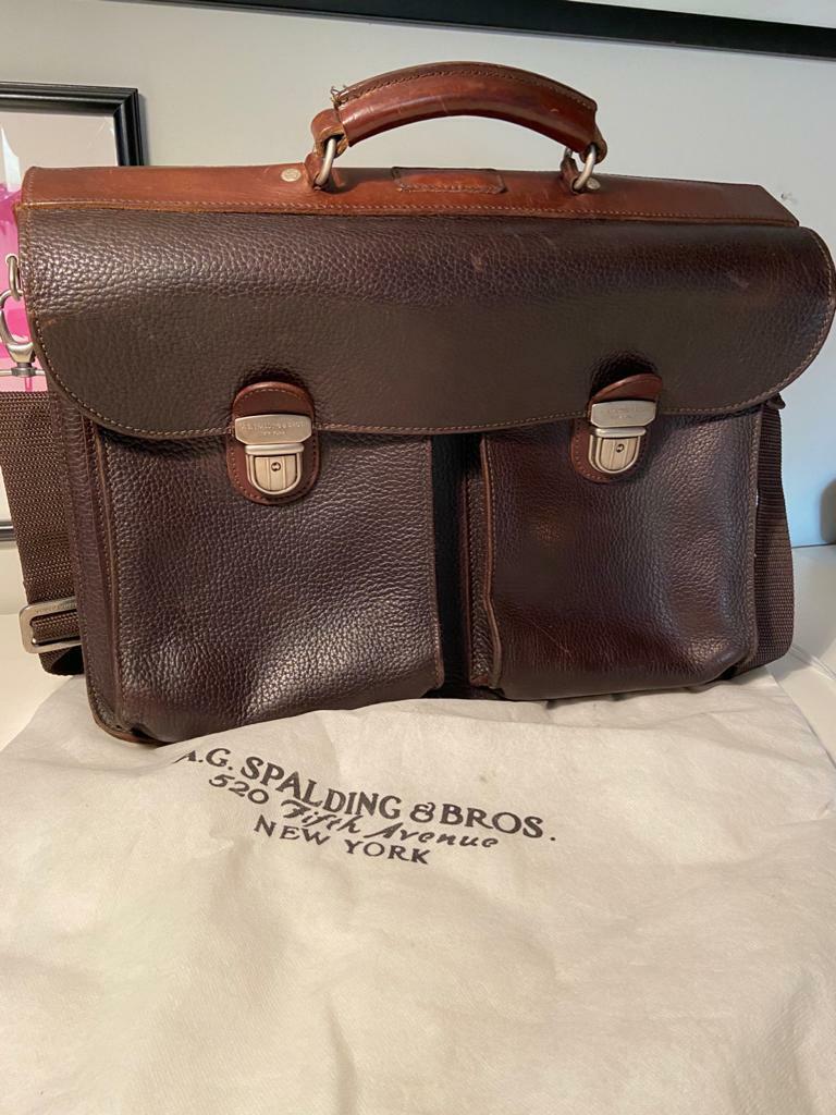 20 cm Shiny Portamonete A.G Spalding /& Bros Nero