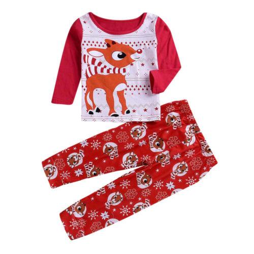 Christmas Family Matching Kid Baby Women Men Sleepwear Nightwear Pajamas Clothes