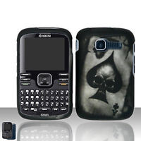 For Kyocera Loft / Torino S2300 Rubberized Hard Case Phone Cover Spade Skull