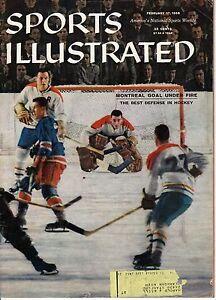 1958 2/17 Sports Illustrated,Hockey,magazine,Jacques Plante Montreal Canadiens V Vintage Sports Memorabilia