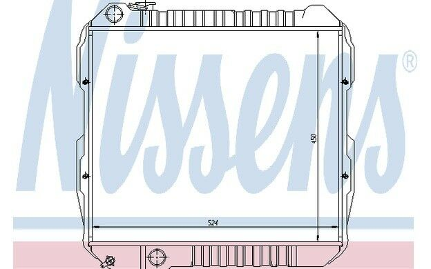 NISSENS Radiador, refrigeración del motor VOLKSWAGEN TARO TOYOTA HILUX 64845